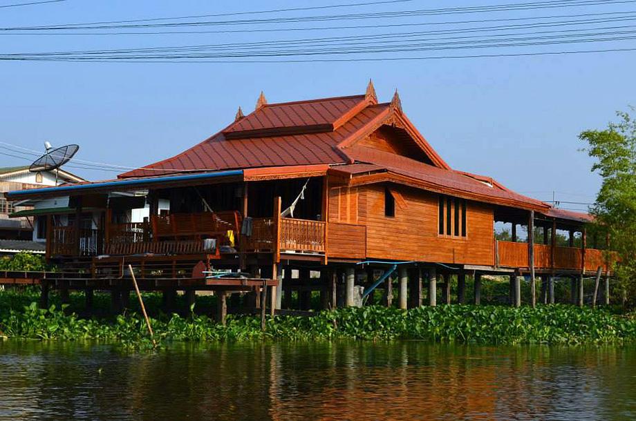 แบบบ้านเรือนไทย ริมน้ำ ริมคลอง