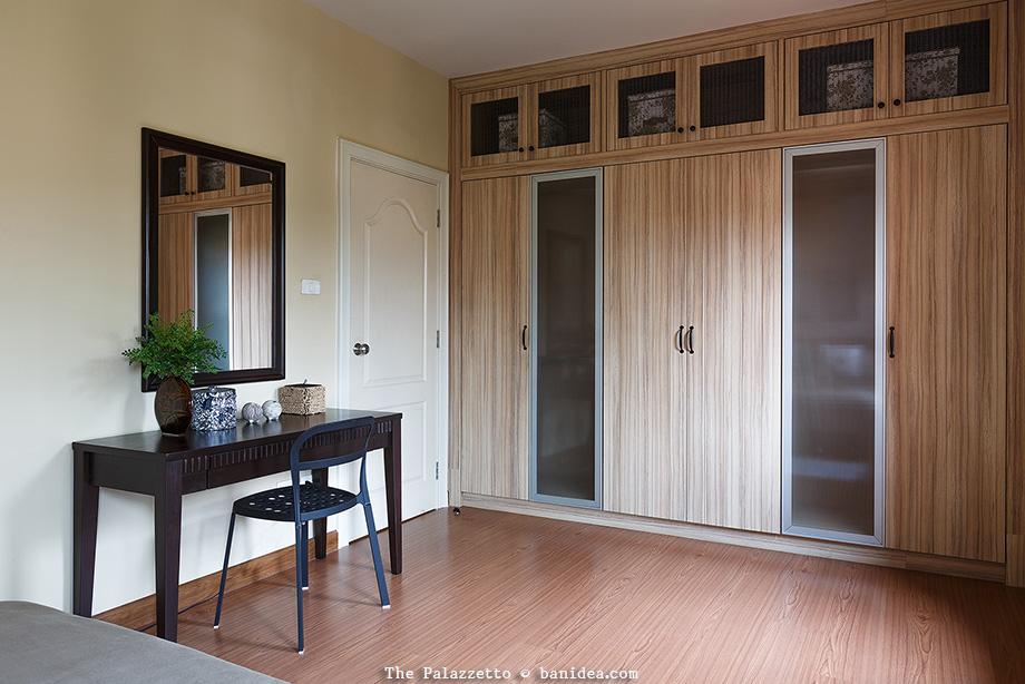 บิลท์อินท์ ตู้เสื้อผ้า ภายในห้องนอน ติดผนังชนเพดาน