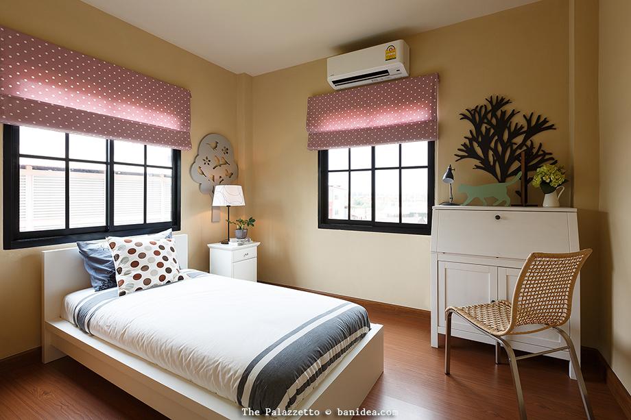 ตัวอย่างการตกแต่ง ห้องนอนขนาดเล็ก บ้านทาวน์เฮ้าส์