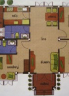 แปลนบ้านชั้นเดียว 3 ห้องนอน 3 ห้องน้ำ 130 ตร.ม.