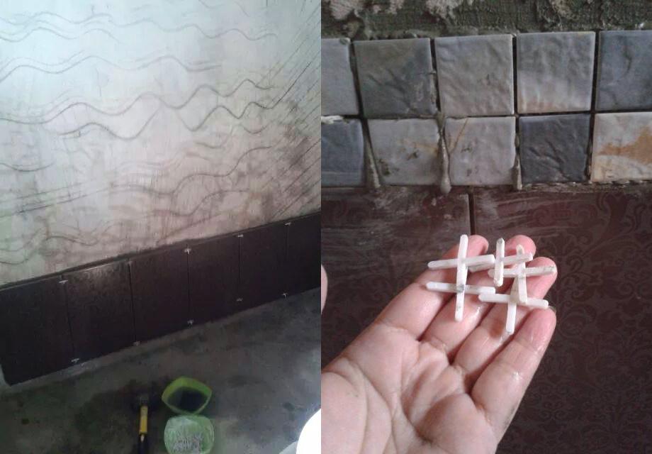 วิธีปูแผ่นกระเบื้อง ผนังห้องน้ำ