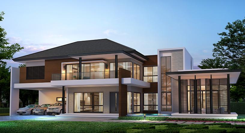 แบบบ้านพร้อมอยู่ Land and house