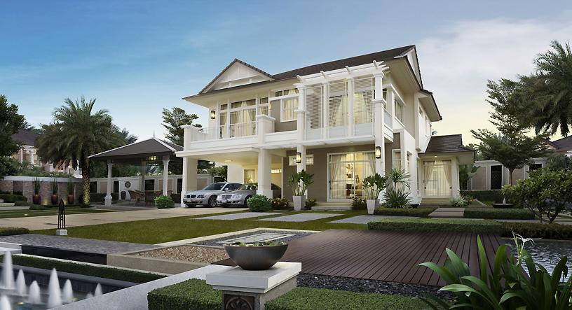 แบบบ้านสองชั้น หลังใหญ่