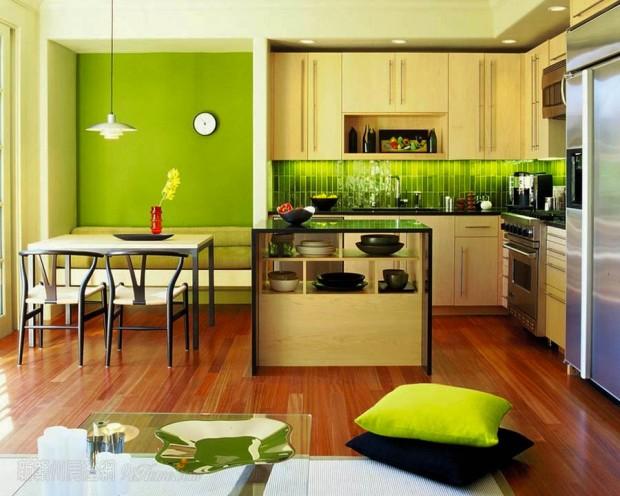 จัดแต่งห้องครัวด้วยสีสัน