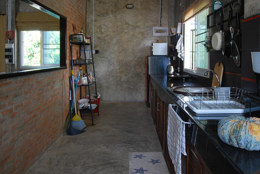 ภาพห้องครัว ปูนขัดมัน