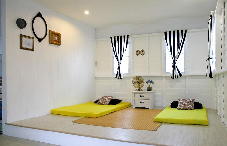 ตกแต่งห้องแบบนอนพื้น เรียบง่ายสะอาดตา