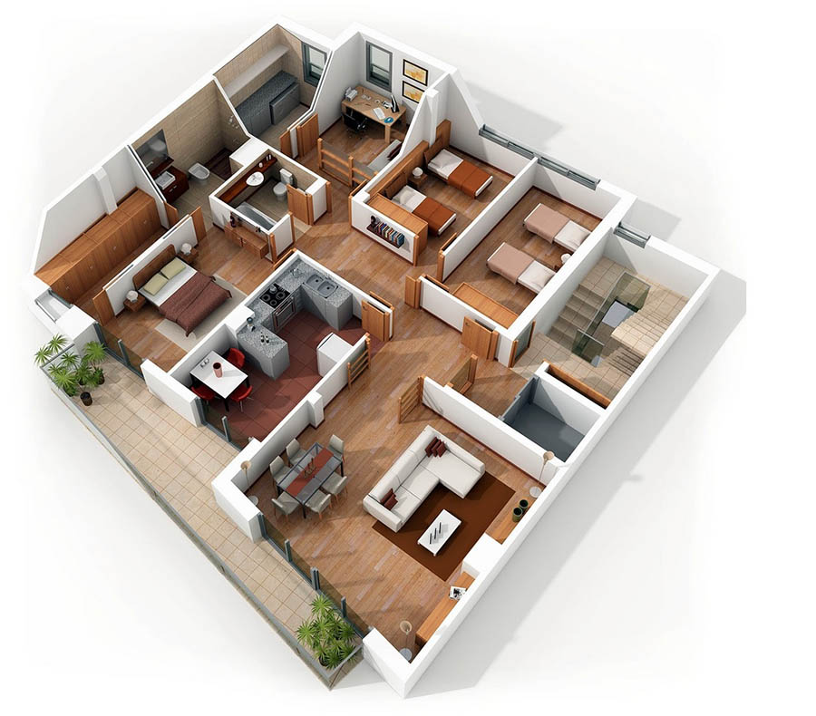 4 Bedroom Apartment Floor Plans: บ้านไอเดีย เว็บไซต์เพื่อบ้านคุณ