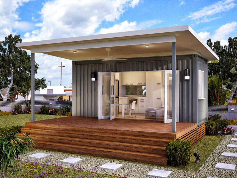 for Small house design container