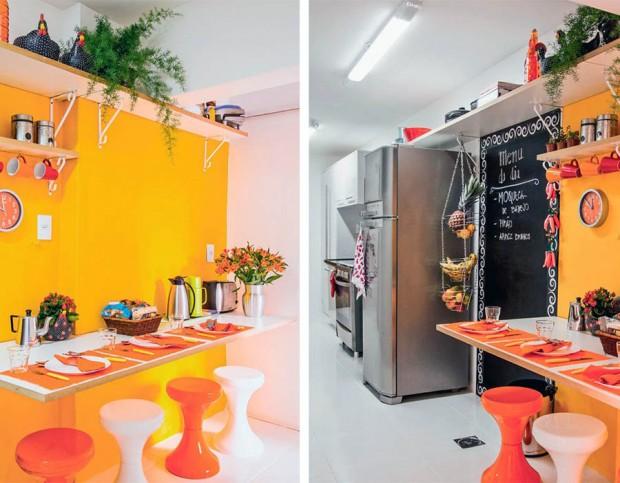แบบห้องครัวสีสันสดใส