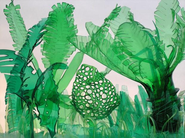 สวนกระบองเพชร จากขวดพลาสติก - DIY - ไอเดีย - ไอเดียแต่งบ้าน