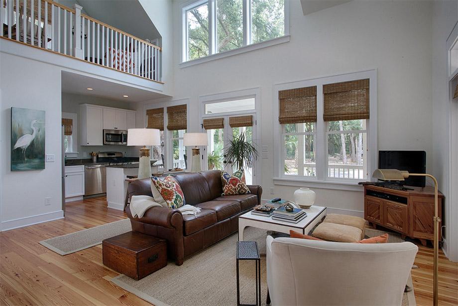ห้องนั่งเล่นเพดานสูง - บ้านไอเดีย เว็บไซต์เพื่อบ้านคุณ