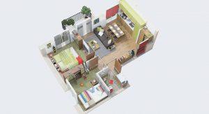 แบบแปลนบ้าน 2 ห้องนอน
