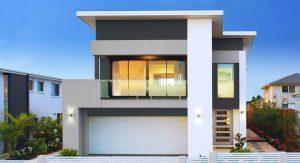 บ้านสองชั้นหลังคาแบน