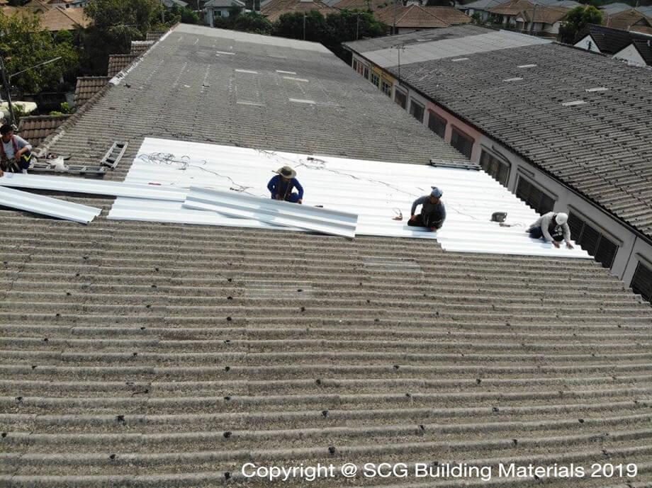 Top Up Roof ซ่อมหลังคาทาวน์เฮาส์