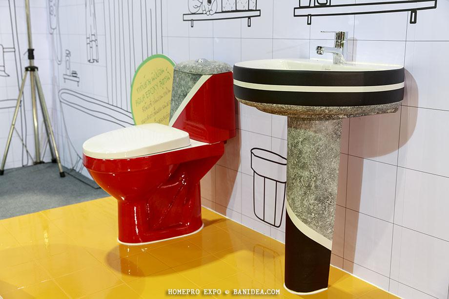 ทาสี สุขภัณฑ์ห้องน้ำ