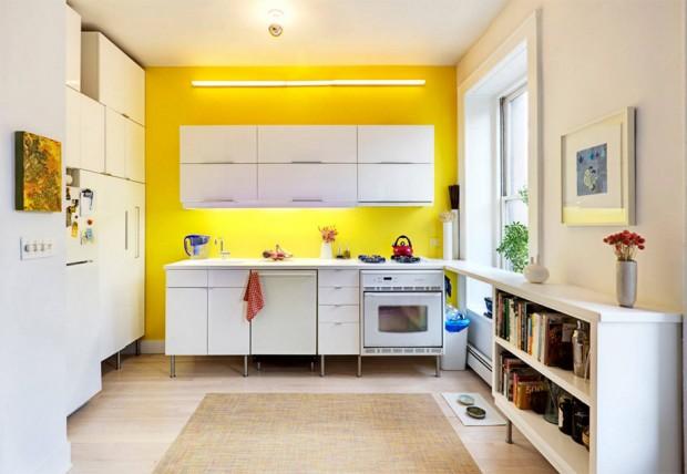 ทาผนังห้องสีเหลือง