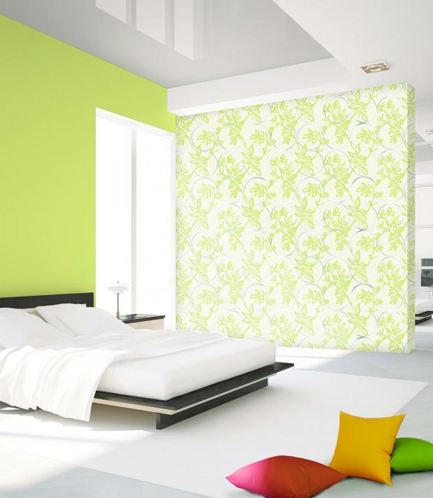 ตกแต่งห้องนอนสีเขียว