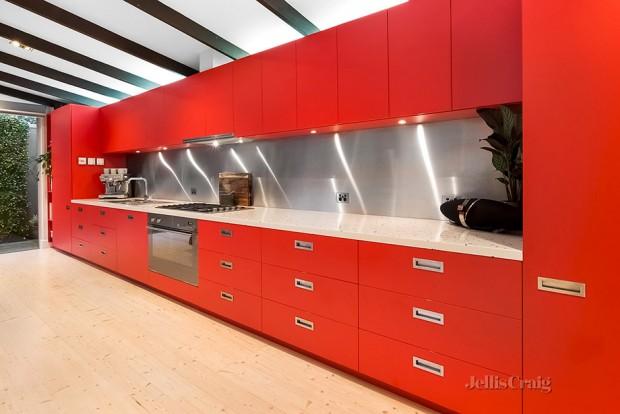เคาเตอร์ครัวสีแดง