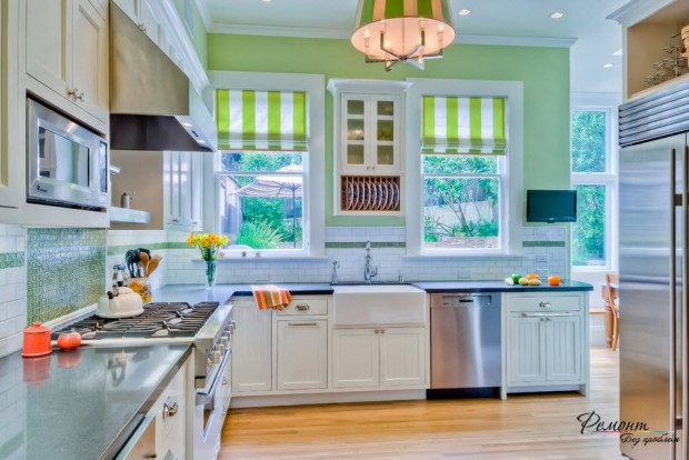 ห้องครัวสีเขียว