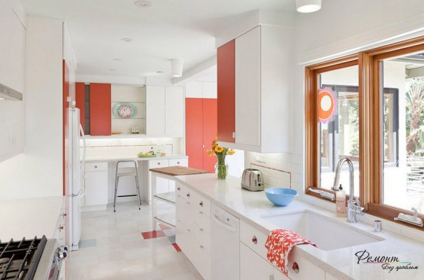 ห้องครัวสีส้ม-ขาว