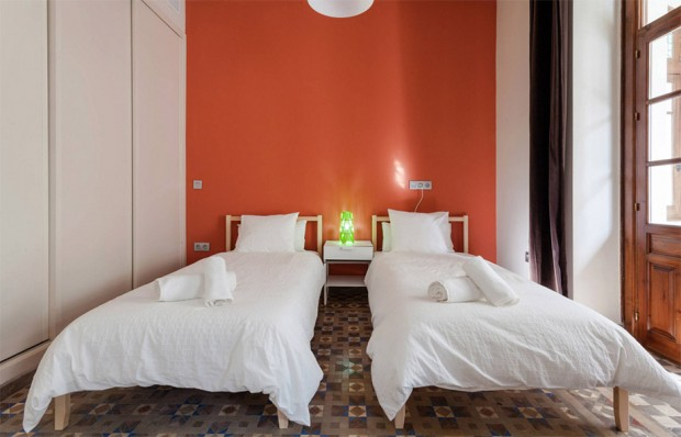 ห้องนอนสีส้ม
