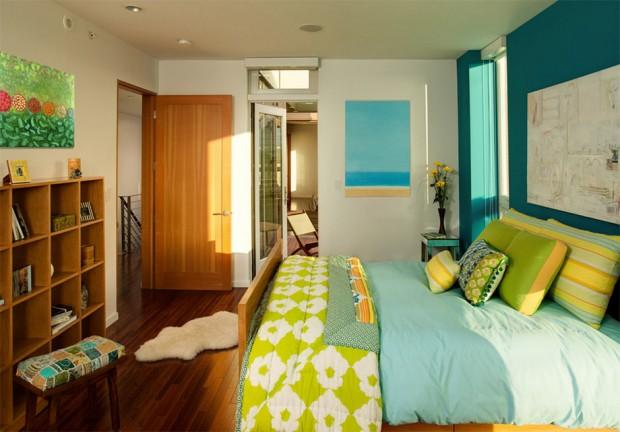 ห้องนอนสีสดใส