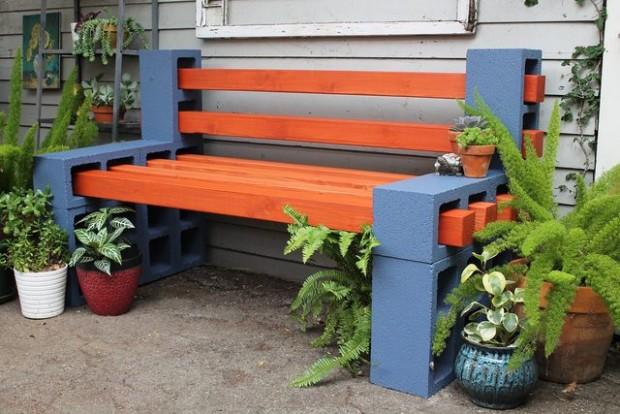 D.I.Y ม้านั่งบล็อกคอนกรีต เติมสวนให้มีเสน่ห์ - ไอเดีย - เฟอร์นิเจอร์