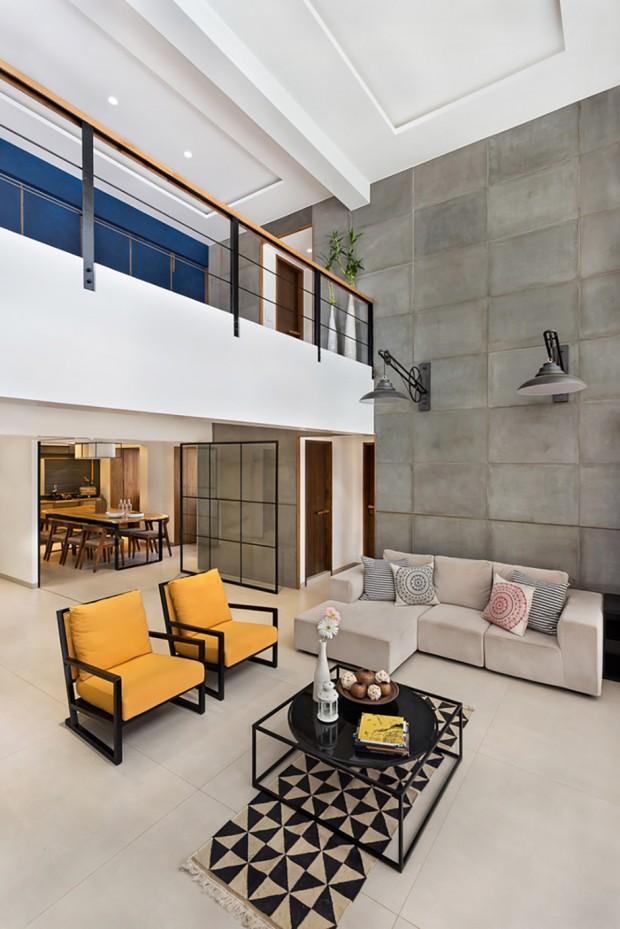 Shah Penthouse - photography by Kunal Bhatia; interior design by Studio Nishita Kamdar.