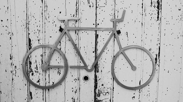 แผ่นเหล็กตกแต่งผนังตัดแต่งรูปรถจักยาน