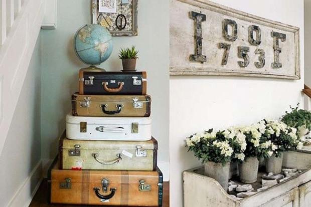 vintage suitcase- กระเป๋าเดินทางใบเก่า