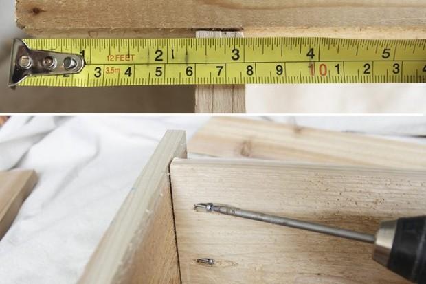 ยึดสกรูเพื่อประกอบตู้