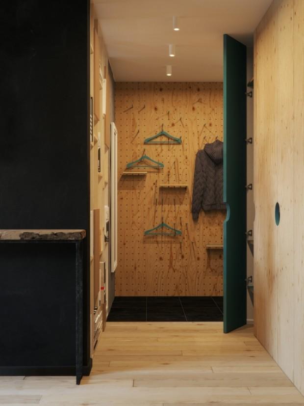 คอนโดสไตล์ modern loft-ตู้เสื้อผ้า