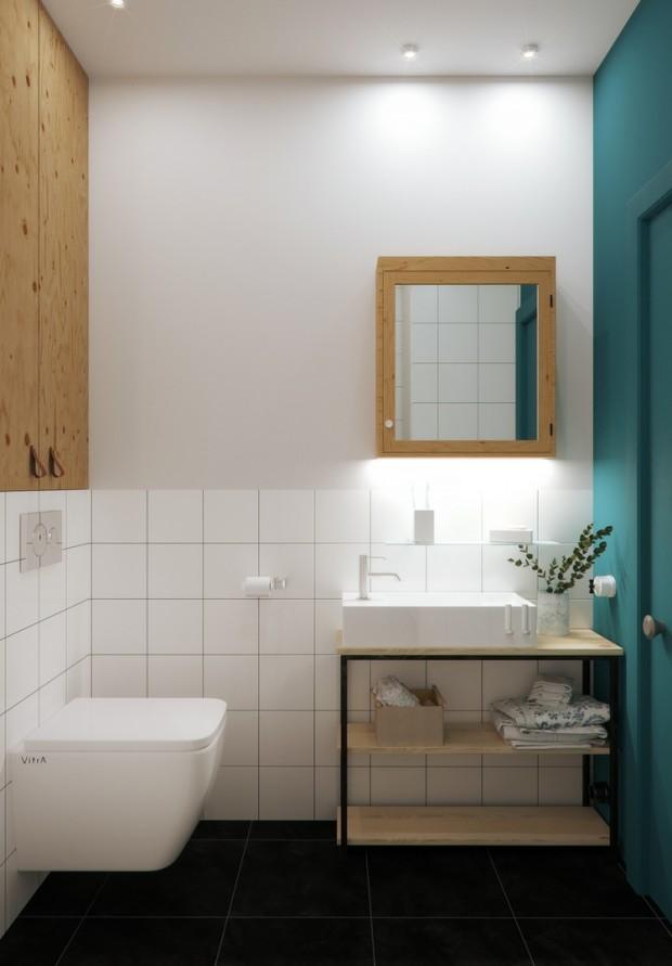คอนโดสไตล์ modern loft-ห้องน้ำ