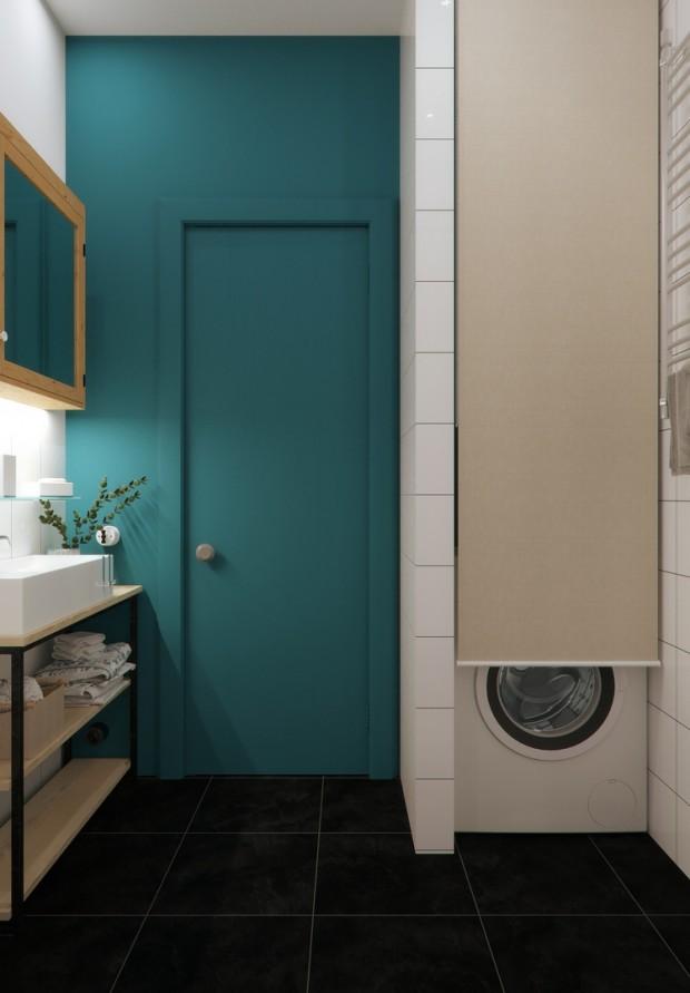 คอนโดสไตล์ modern loft-ห้องซักรีด