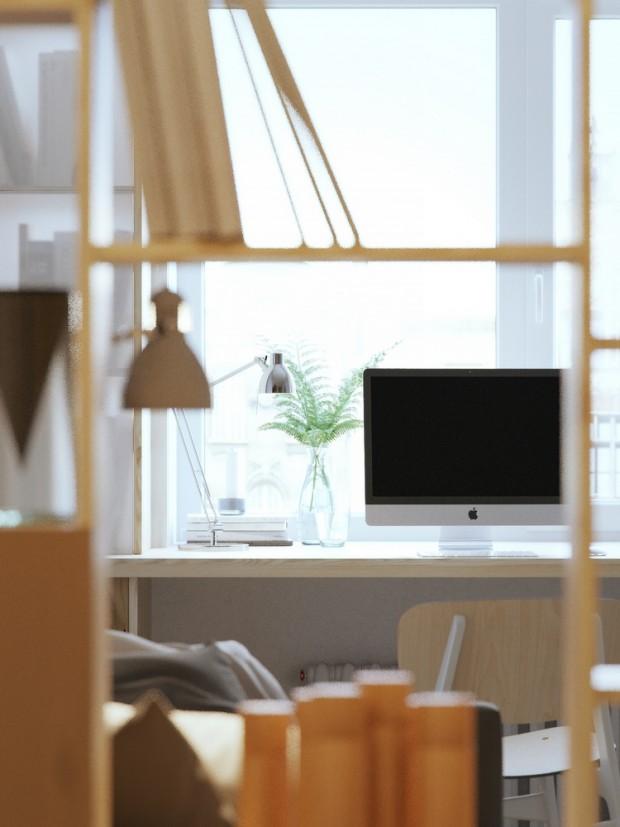 คอนโดสไตล์ modern loft-โต๊ะทำงาน