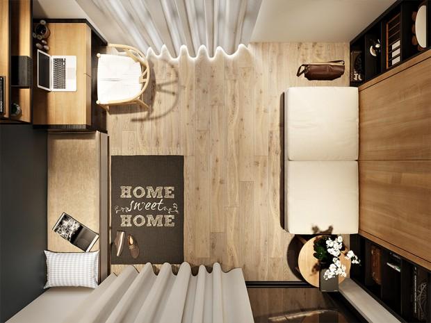 ห้องนอนพื้นไม้สวย ๆ