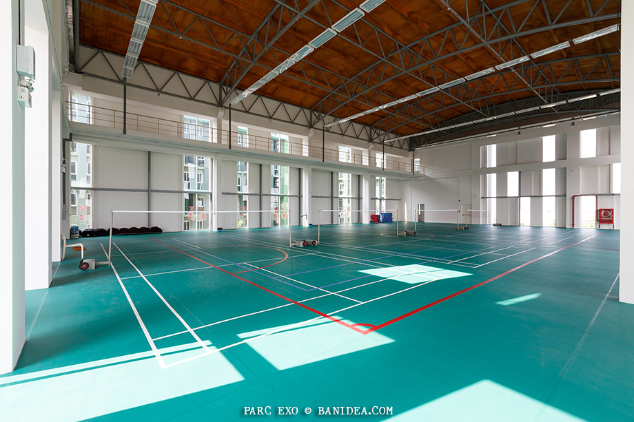 สนามเทนนิส แบตมินตัน บาสเกตบอล
