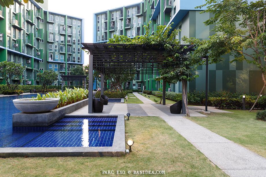 ศาลาระแนงนั่งเล่นในสวน