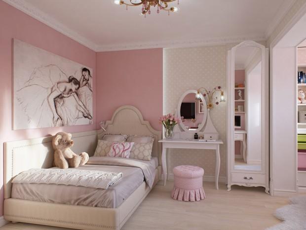 เตียงนอนสไตล์เจ้าหญิงสีชมพู