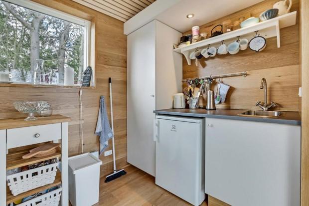 มุมทำครัวในบ้านเล็ก ๆ