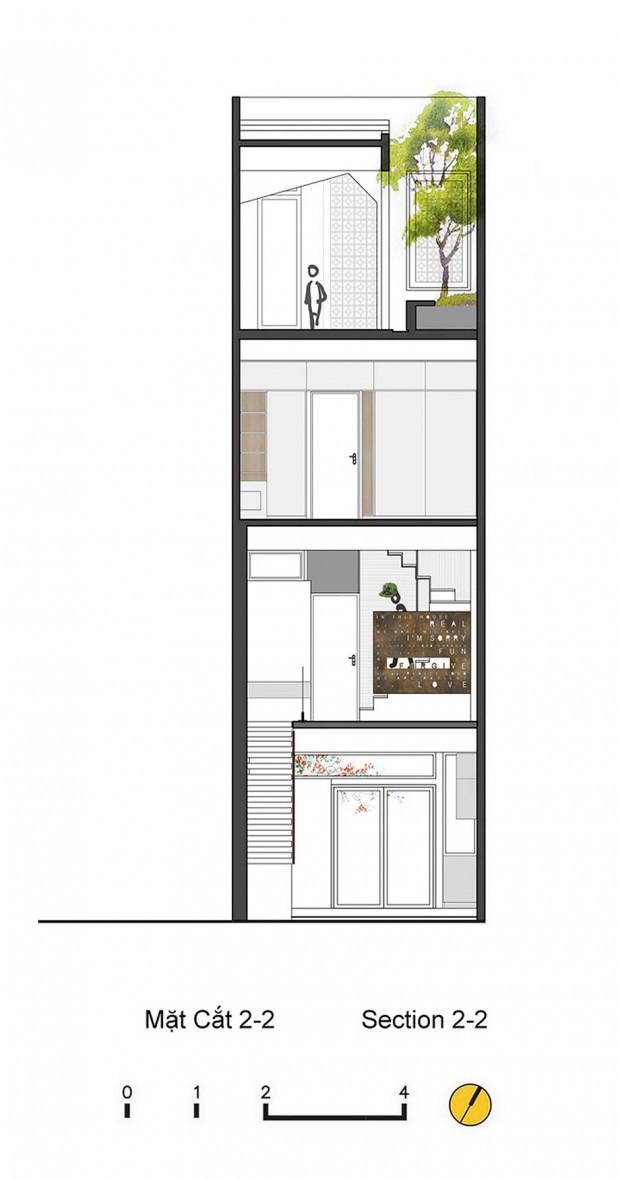 แปลน Town house 4 ชั้น-section 2-2