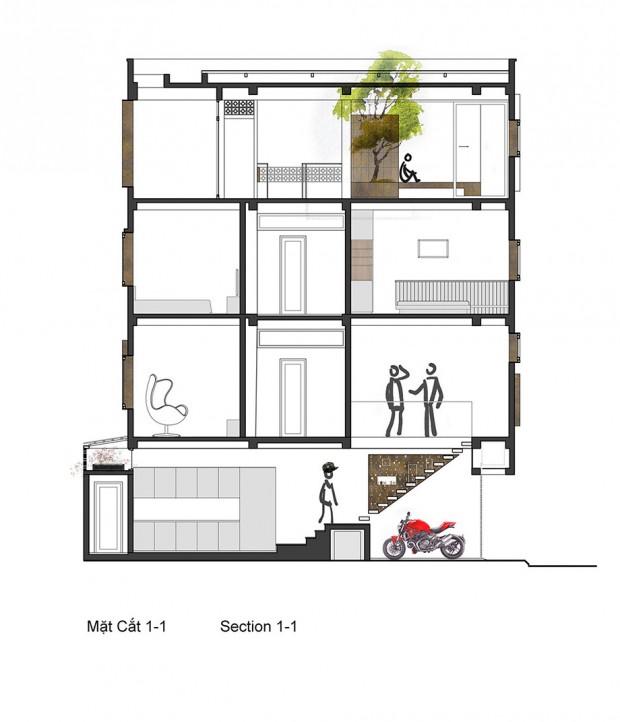 แปลนบ้าน 4 ชั้น-section1-1