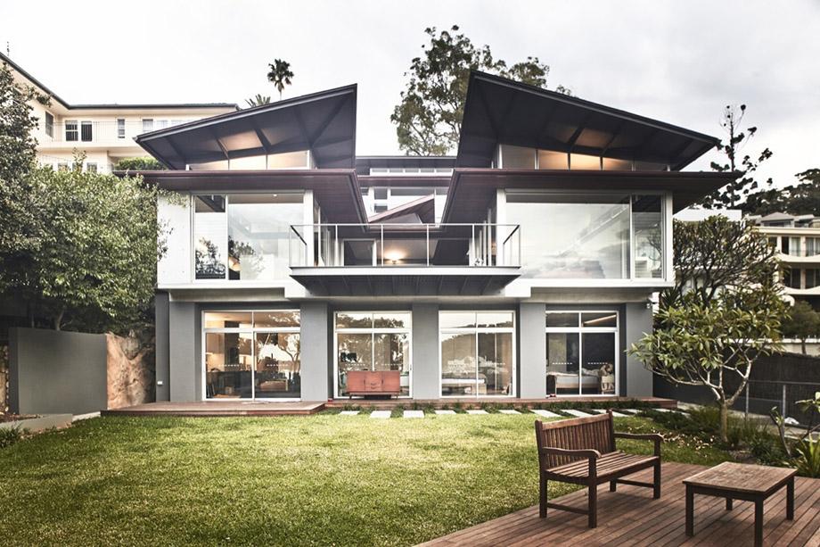 แบบบ้าน 2 ชั้นริมทะเล Villa-on-Sydney-Harbor