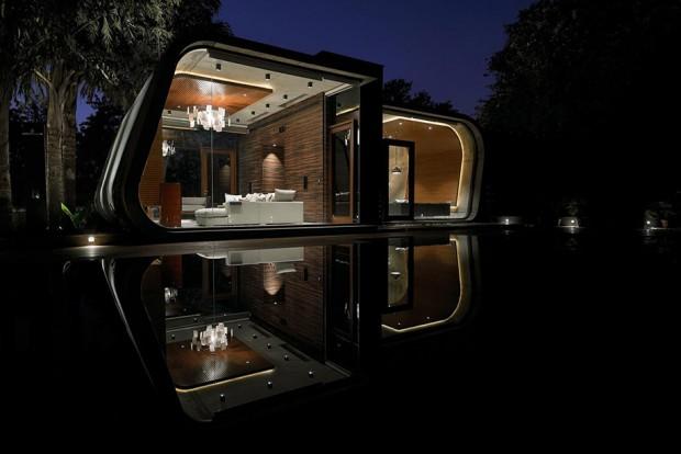 วิวบ้านริมน้ำ curved-pool house