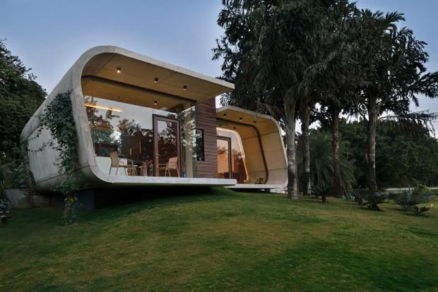 บ้าน Modern ทรงโค้งมน