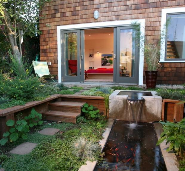 สวนน้ำตกโมเดิร์นเล็ก ๆ ในบ้าน