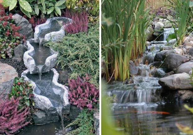ตกแต่งสวนสวยด้วยน้ำตกทำเอง