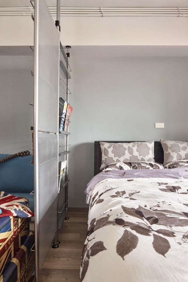 ห้องนอนเรียบง่ายของคุณผู้ชาย