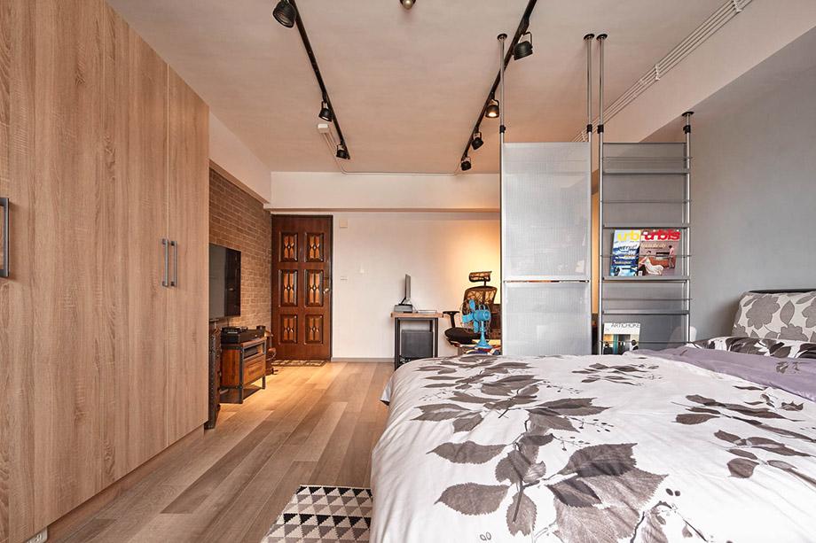 ห้องนอนสบายด้วยบรรยากาศงานไม้