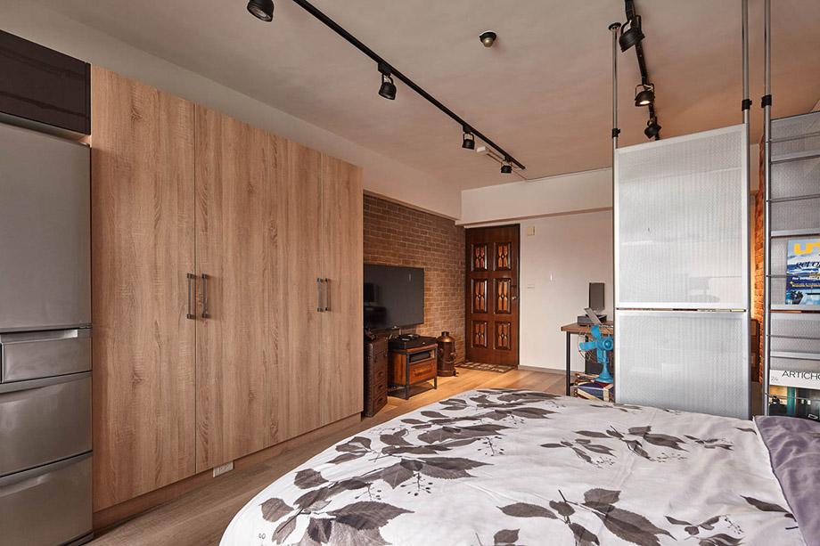 ห้องนอนบรรยากาศสบายด้วยโทนสีเบา ๆ